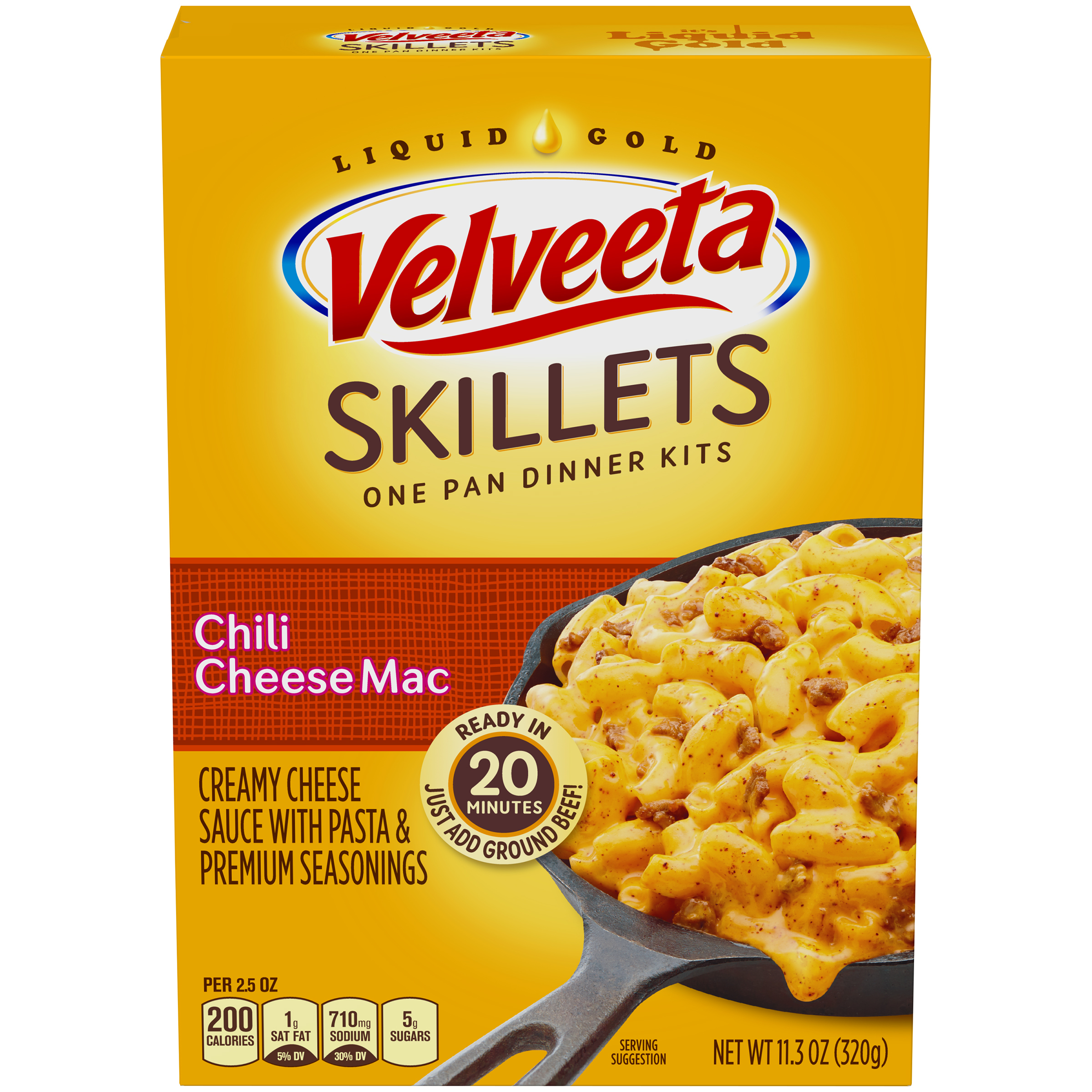 Velveeta Cheesy Skillets Chili Cheese Mac Dinner Kit