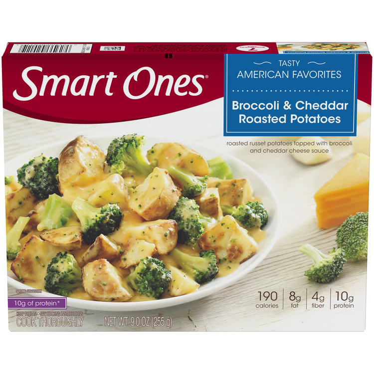 Smart Ones Broccoli and Cheddar Roasted Potatoes