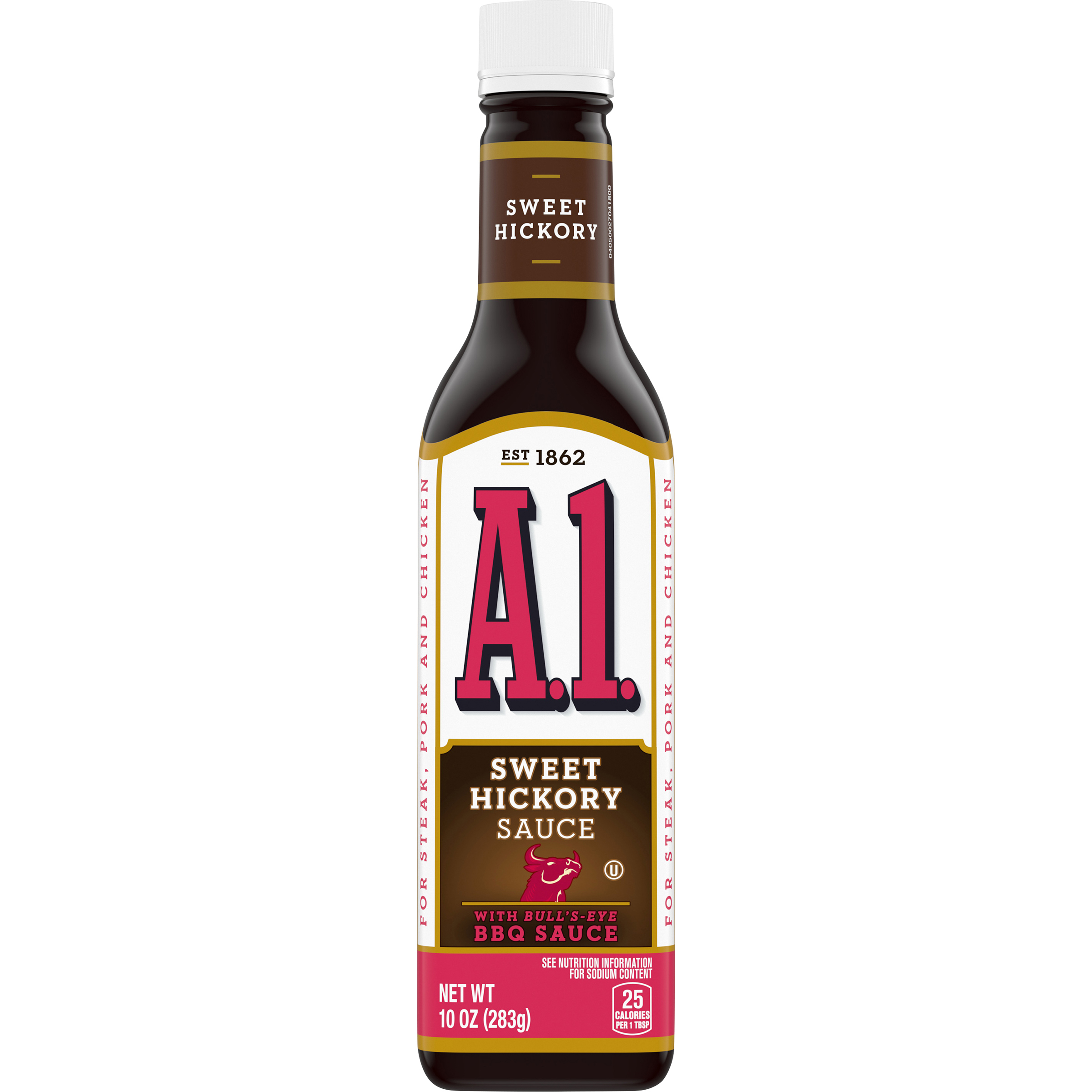 A.1. Sweet Hickory Sauce Made with Bull's-Eye BBQ, 10 fl oz Bottle