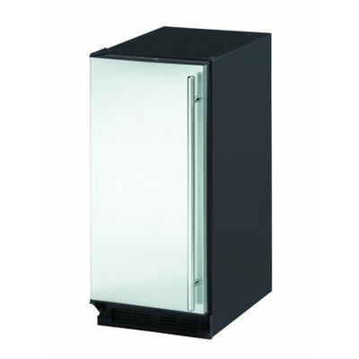 U-Line 2115RS01 3.3 Cu. Ft. Stainless Steel Undercounter Built-In Compact Refrigerator - Energy Star - Left Hinge