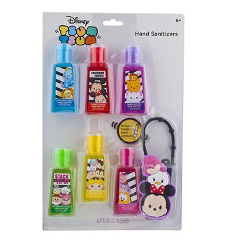 Townley Girl Disney Tsum Tsum Hand Sanitizer for Kids includes Carrying Case, Travel Size, 6 pack