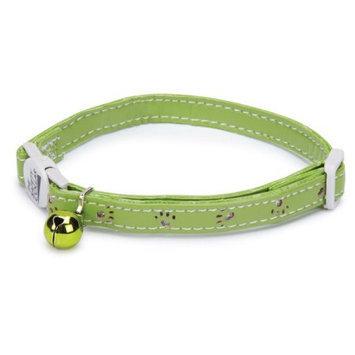 Savvy Tabby Sparkle Paw Cat Collar Green
