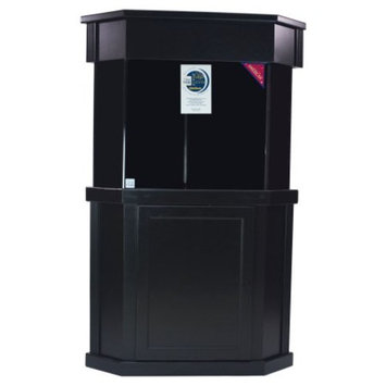 Laguna Series Pentagon Black Wood Aquarium Stand