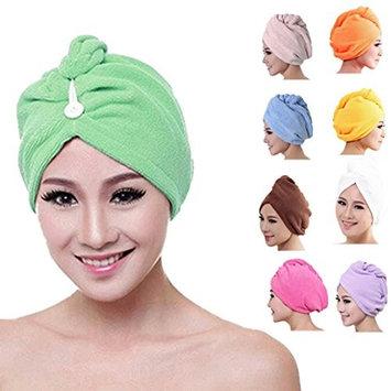 Towallmark(TM)Microfiber Bath Towel Hair Dry Hat Cap Quick Drying Lady Bath Tool (White)
