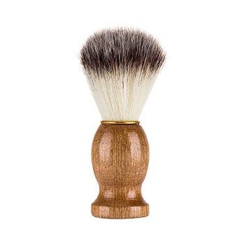 Shaving Brush Hard Wood Handle Soften Beard Brush for Safety Razor Double Edge Razor 1 Pcs