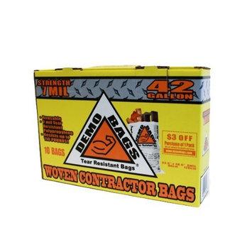 Demo Bags GIDDS2-2481109 Contractor Trash Bag (10 Bags Per Pack), 42 gallon