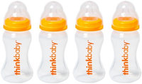 Thinkbaby Baby Bottle with Stage A Nipple (0-6 Months) - 9 Ounce - 4 Pack