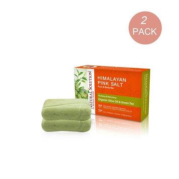 Natural Solution Himalayan Pink Salt Face & Body Bar, Deep Moisturizing & Nourishing With Organic Shea Butter, 5.2 oz Bar (Pack of 2)