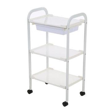 Anself Salon Trolley Barber Cart Hair Rolling Cart 3 Layers Storage Tray Cart