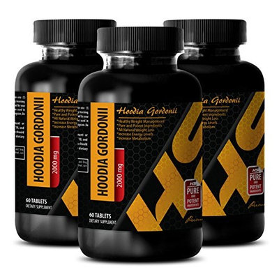 Metabolism booster for women - PURE HOODIA GORDONII EXTRACT 2000 Mg - Suppressant gordonii - 3 Bottle 180 Tablets