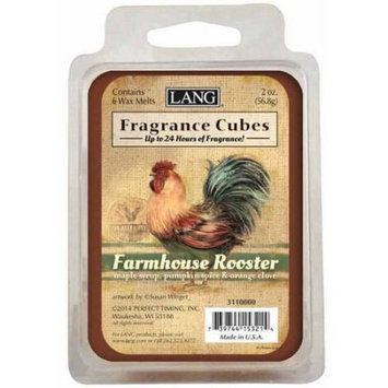 LANG Farmhouse Rooster 2-Ounce Fragrance Cubes Scented with Maple Syrup, Pumpkin Spice and Orange Clove