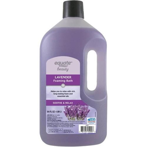 Equate Beauty Lavender Foaming Bath, 64 Oz