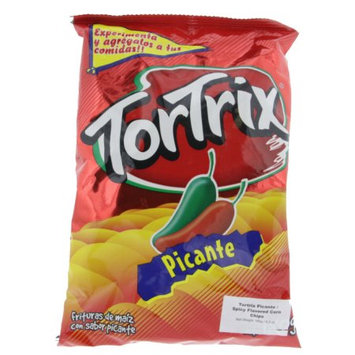 Tortrix Spicy Corn Chips 6.3oz - Picante chips (Pack of 24)