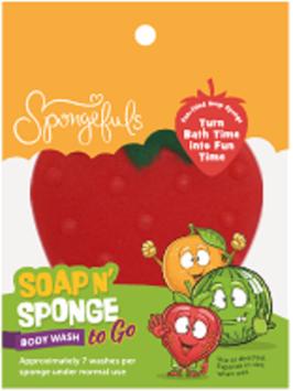 Spongefuls Soap N' Sponge To Go, Strawberry