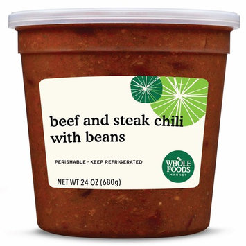 Whole Foods Market, Beef and Steak Chili with Beans, 24 oz