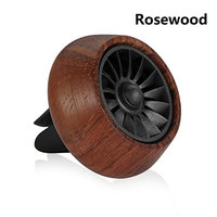 Modernlife Car Fragrance Diffuser Air Freshner Vent Clip Wooden Car Aromatherapy Essential Oil Diffuser Air Purifier with 3 Refill Oil Pads (Rosewood)
