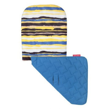Maclaren Seat Liner, Messy Stripe Spectra Yellow/Deep Water (Discontinued by Manufacturer) (Discontinued by Manufacturer)