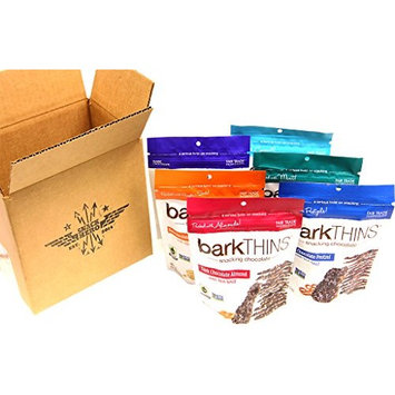 BarkTHINS Snacking Chocolate Variety Pack, 1-Dark Chocolate Toasted Coconut Almonds, 1- Dark Chocolate Blueberry Quinoa, 1-Dark Chocolate Mint, 1- Dark Chocolate Pretzel ,1-Dark Chocolate Pumpkin Seed, 1- Dark Chocolate Almond, 4.7 Ounce each (Pack of 6)