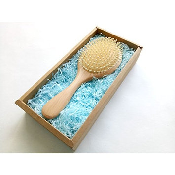 UPWARD Natural beech Hair Brush-Detangling Scalp Massage Hair Comb in an Eco Friendly Box for All Hair Types(L SIZE)