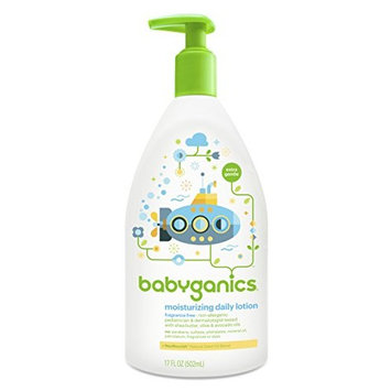 Babyganics Daily Baby Lotion, Fragrance Free, 17 Ounce (Pack of 2)