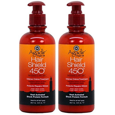 Agadir Argan Oil Hair Shield 450 Plus Intense Crème Treatment 10oz (Pack of 2)