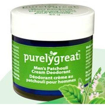 Purelygreat Natural Deodorant for Men Patchouli - EWG Verified - Vegan, Cruelty Free - No Aluminum, No Parabens, BPA Free - Essential Oils [Patchouli]