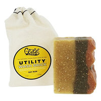 CLIFF ORIGINAL Face Wash Brick Soap Bay Ru Men, 4 Ounce [Bay Rum]