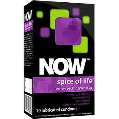 Now Spice of Life - Pleasure Pack Condoms, 10 count
