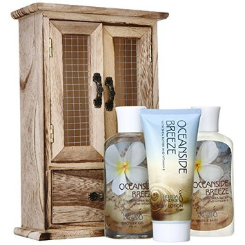 Freida and Joe Oceanside Breeze Fragrance Spa Gift Set Perfect for Women, Includes a Body Lotion, Shower Gel, and Bubble Bath, with Moisturizing Shea Butter