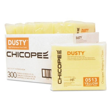 Innodisk DUSTY Disposable Dust Cloths, 14 5/8 x 17, Yellow, Rayon/Poly, 25/Bag, 12 Bag/Carton -CHI0513
