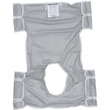 Drive Medical Patient Lift Sling with Commode Opening, Dacron
