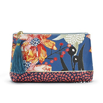 byDesign Floral/Blessed Cosmetic Pouch with Tassel Make Up Bag