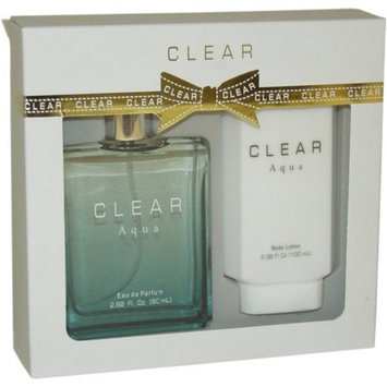 Clear Aqua by Intercity Beauty Company for Women - 2 Pc Gift Set 2.82oz EDP Spray, 3.38oz Body Lotion