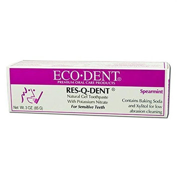Res-q-dent Toothpaste, Spearmint, 3 Ounce (Pack of 3) by The Regatta Group DBA Beauty Depot