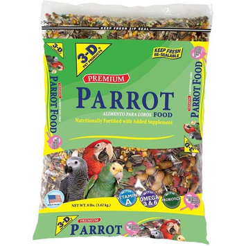 3-D Products Premium Parrot Food, 8.0 LB