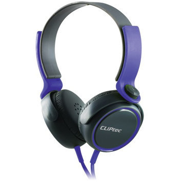 Cliptec Purple Roxx Muisc Stereo 3.5mm Wired Volume Control Headset Earphone On Ear Headphone w/Mic