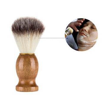 Celendi 1 PCS Shaving Bear Brush, Best Badger Hair Brush Wood Handle Razor Barber Tool