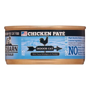 Redbarn Grain-Free Indoor Formula Wet Cat Food, Chicken Pate, 5.5 Oz, 24 Ct (Case of 24)