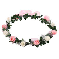 Gilroy Bohemian Rose Flower Crown Headband Bridal Wedding Hair Garland Wreath Headdress