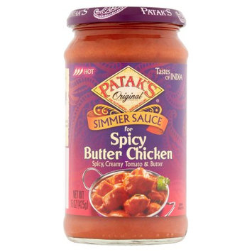 Ach Food Companies Inc Patak's Original Simmer Sauce for Spicy Butter Chicken, 15 oz