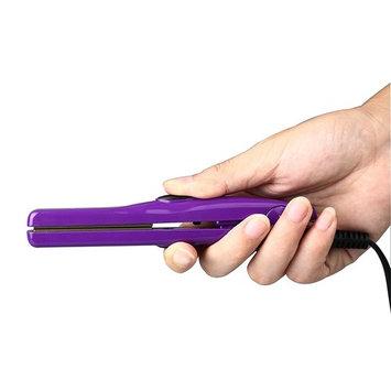 Wazor Mini Hair Flat Iron 1/2 Inch Ceramic Tourmaline Hair Straightener Dual Voltage Travel Iron For Worldwide Use Temp 356F Purple