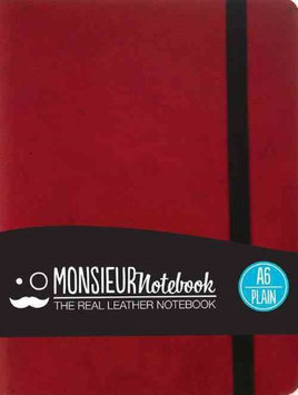 Monsieur Notebook Leather Journal - Red Plain Small