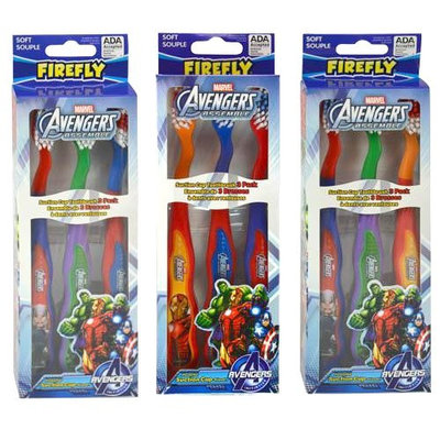 18 ct Marvel Avengers Toothbrushes (with Suction Cup): Assorted, Random (Hulk, Captain America, Iron Man, Thor)