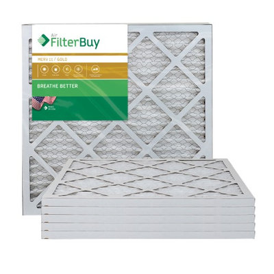 AFB Gold MERV 11 20x22x1 Pleated AC Furnace Air Filter. Filters. 100% produced in the USA. (Pack of 6)