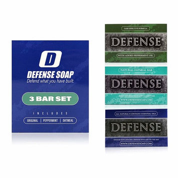 Defense Soap 3 Bar Soap Set - Original, Peppermint, and Oatmeal