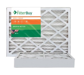 AFB Bronze MERV 6 12.75x21x4 Pleated AC Furnace Air Filter. Filters. 100% produced in the USA. (Pack of 2)