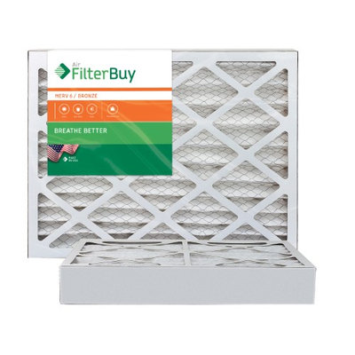 AFB Bronze MERV 6 18x22x4 Pleated AC Furnace Air Filter. Filters. 100% produced in the USA. (Pack of 2)