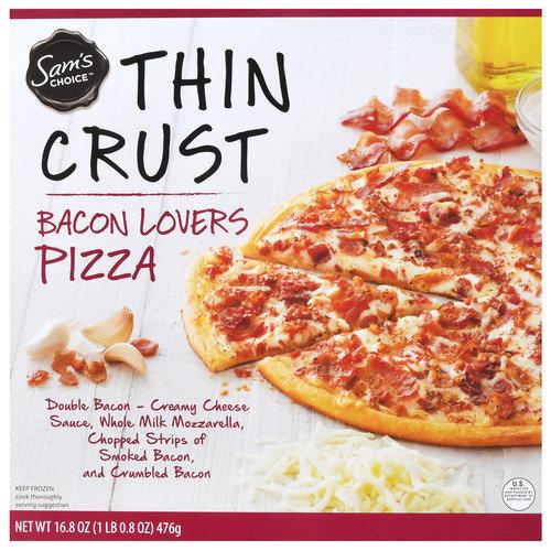 Sam's Choice Frozen Thin Crust Bacon Lovers Pizza