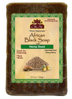 OKAY African Black Soap Hemp Seed 156 g - 5.5 oz