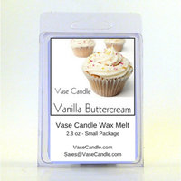 2 Vanilla Buttercream Vase Candle Melts 2.8 oz Premium Highly Scented Soy Paraffin Wax Tarts 50 Hours (Pack of 2)